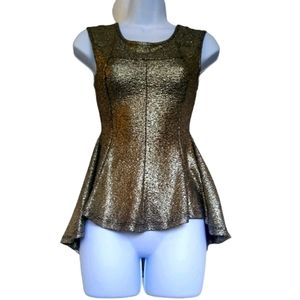 Seductions sparkly gold layered tank